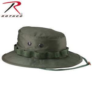 OD Green Boonie Hat Lightweight Poly Cotton Hunting & Fishing Hat Rothco 5811