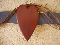 Rustic Primitive Decor Heart Wood Farmhouse reproduction Outside or inside 32""
