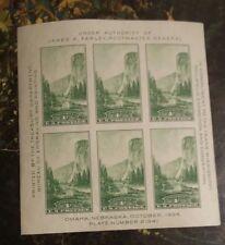 U.S. Scott #756 - 1 Cent Yosemite Farley Natural Parks Block of Six #21246 NH...