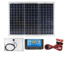30w Poly Solar Panel Battery Charging Kit Charger Controller Boat Caravan HomeK1