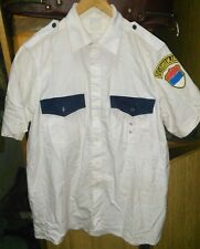 SERBIA YUGOSLAVIA POLICE SHIRT WHITE SIZE M