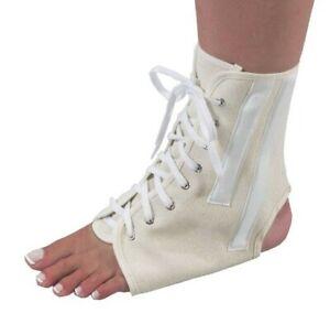 Bilt-Rite Mastex Health Canvas Ankle Brace With Laces Beige - Mediuma
