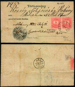 M368 Hungary receipt Malcza Galszecs 1882