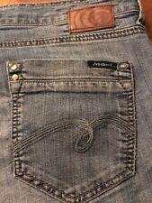 Mavi Women's Jeans Zoe Boot Cut Stretch Distressed Blue Jeans Size 28 X 31