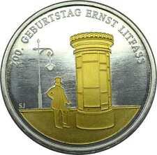 20 Euro BRD 2016 Silber 200. Geburtstag Ernst Litfaß mit Goldapplikation