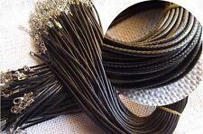 "100pcs 1.5mm×18"" PU Wax Pendant Necklace Chain Cord DIY Jewelry Making Supplies"
