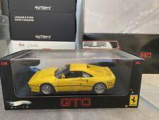 HotWheels ELITE 1:18 scale Ferrari 288 GTO Yellow