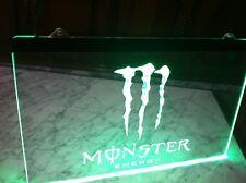 Cartel luminoso led Monster energy sign light neon futbol luz poster redbull can