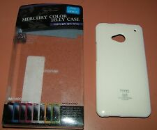 White Color Jelly Case for HTC One (M7), New in Mercury Brand retail package
