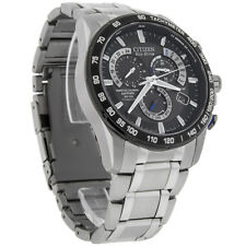 Citizen Eco-Drive Mens Titanium Perpetual Calendar Atomic Watch AT4010-50E