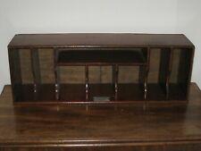 More details for art deco mahogany stationery desk rack - free standing