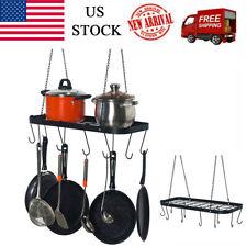 Kitchen Storage Pot And Pan Rack Hook Holder Hanging Kitchen Oval 10 Hooks Us