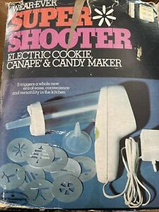 WEAR-EVER SUPER SHOOTER COOKIE PRESS ELECTRIC FOOD GUN CANAPE CANDY MAKER BOX
