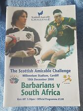 Barbarians vs. South Africa - 10/12/2000