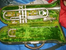 buescher  model 9  true tone trumpet and case with extras