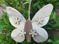 Driftwood Butterfly 24 x 21 cms approx wood home decor hanging