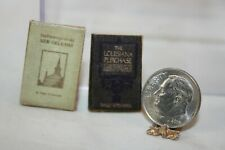 Miniature Dollhouse Drawings New Orleans & Louisiana Purchase Aged Books 1:12