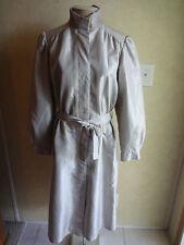 Vintage Womens Forecaster International Rain Coat Trench Gray 11/12 11 12 Lined