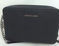 New Michael Kors MK Jet Set Saffiano Leather LG EW Crossbody/Shoulder Bag Black