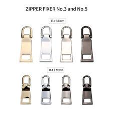 8x DIY Replacement Zipper Pull Tab Zip Fixer for #3 #5 Clothes Bag Craft Parts