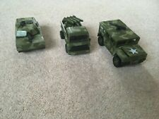 Model Army Tank Rocket Launcher Jeep Military Vehicles Collection x 3 Moveable