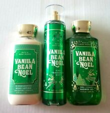 Bath & Body Works Vanilla Bean Noel Set Shower Gel, Lotion, Shimmer Mist