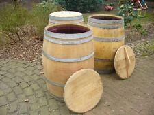 RegentonneEiche 225 Ltr.,H=95 cm,MIT DECKEL,4-6 Jahre,Wasserfaß,Weinfaß,Holzfaß,