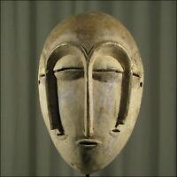 59231) Afrikanische Lengola Holz Maske Kongo Afrika KUNST