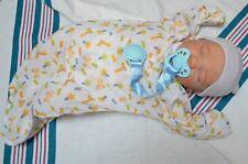 7 piece HOSPITAL SET for Reborn Baby Doll NEWBORN giraffe prnt gown pacifier BOY