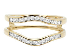 14K Yellow Gold Bridal Symmetrical Jacket Wedding Ring Guard Enhancer 0.25Ct