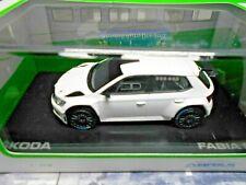 SKODA Fabia R5 Rallye III 3 white Tarmac Asphalt weiss black wheels Abrex 1:43