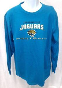 Jacksonville Jaguars Football Long Sleeve Shirt Teal New