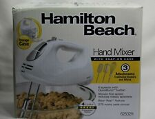 Hamilton Beach 6 Speed Hand Mixer With 3 Attachments And Snap On Case 62632R