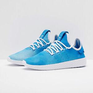Adidas Hu UK Size 5 Women's Trainers Blue White Shoes Originals
