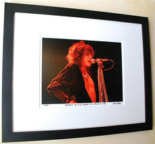 Aerosmith Steven Tyler Rare frame fine art live photo 1983 signed number 3/100