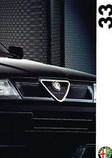 1993 Alfa Romeo 33 Sales Brochure Sweden