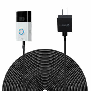 6m/19.6ft Power Cable Charger with Adapter for Ring Video Doorbell 2 US Plug