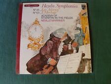 HAYDN SYMPHONIES N° 45 adieux N° 101 horloge NEVILLE MARRINER LP PHILIPS 9500520