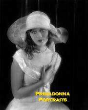 DOLORES COSTELLO 8X10 Lab Photo 1930's Hat White Gown Beauty Rare Portrait