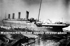 1911-1912 White Line RMS Titanic Passenger Ship in Dry Dock Construction Photo