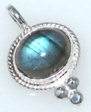 Shiny Labradorite 925 Sterling SILVER, Real Gemstone Pendant Unique Jewellery