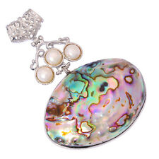 New Style Natural Large Abalone Shell Pearl Women Jewelry Gemstone Pendant FD750