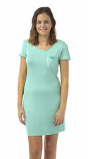 BHS Ladies Nightshirt With Satin Trim and Pocket Grey Cream 8 - 22 14