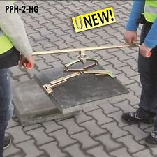 "PPH 30/62  EXTENDED Handle SLAB LIFTER for 600x600 COUNCIL Slabs & 9"" Blocks"