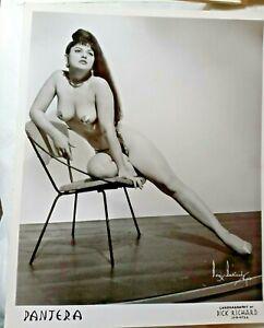 PANTERA Burlesque Star Dancer A BORIS BAKCHY ORIGINAL PHOTO 1950 Pin Up 8x10