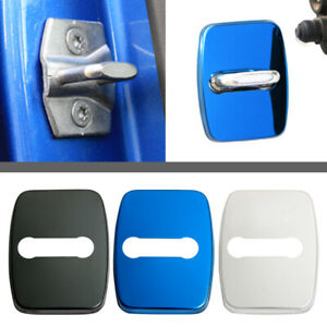 4X Car Stainless Door Lock Protect Buckle Cover Trim fit For BMW 1 3 4 5 Series