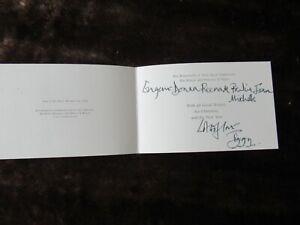 Tiggy Legge Bourke Handwritten / Signed Christmas Card