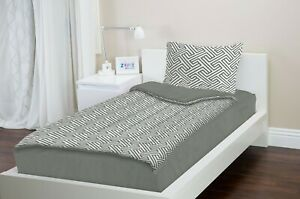 "Zipit Bedding Set Twin Size Geometric Grey 38""x74"""