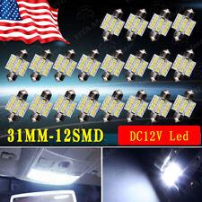 20x Cool White 31MM 12SMD 3528 Festoon LED Dome Interior Light bulb DE3175 3022