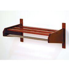 Wooden Mallet 24 Oak Coat & Hat Rack W/ Chrome Bar, Mahogany 24Scrmh New